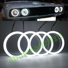 4X WH Cotton SMD Angel Eyes Halo Rings For BMW 30 E32 E34 Devil Demon Corona DRL