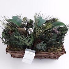 Threshold Greenery Floral Arrangement Wicker Basket Decoration Winter Christmas