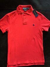 Ralph Lauren Polo Shirt (S Size) The Slim Fit Mesh - 100% Authentic - Red Colour