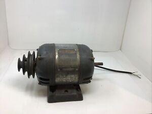 "SEARS CRAFTSMAN 1/2 HP 1156902 10-12"" METAL LATHE ELECTRIC MOTOR 1750 RPM TESTED"