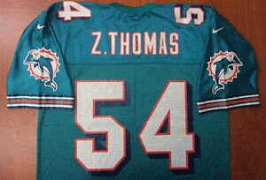 Vintage Nike NFL Miami Dolphins Football Zach Thomas Authentic On Field Jersey L