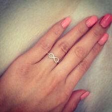 Infinity Ring Silver 925 Tiny Classic - SizeUS6 - Handmade - Genuine