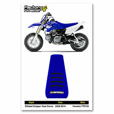 2006-2016 YAMAHA TTR 50 Blue/Black RIBBED SEAT COVER BY Enjoy MFG