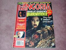FANGORIA # 198, Blair Witch 2, House of 1000 Corpses, Free shipping in USA