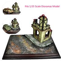 Military Diorama Scenery Ruins Corner House 1/35 Sand Table Model Buildings Set