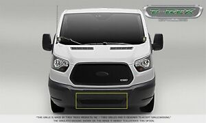 For 16-19 Ford Transit 150 250 350 350 HD Black Mild Steel Grille Overlay