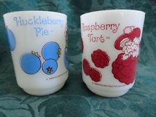 Huckleberry Pie Raspberry Tart Anchor Hocking Mugs Set of Two