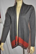 EILEEN FISHER gray Merino Wool A-line long  Open Front Cardigan Size XS EXC