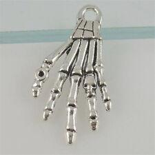 12388 20X Alloy Horror Skeleton Ghost Specter Skull Hand Pendant Jewelry Finding
