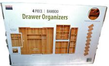 Costco Seville Classic 4-pc. Bamboo Drawer Organizer