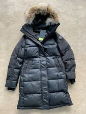 39b641e9a100 Canada Goose Rowley Womens Black Label Parka Coat Size Small Black UK 6