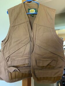 Cabela's Men's L Canvas Hunting Vest w/ Game Pouch & Pockets