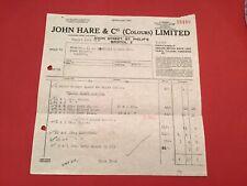 John Hare & Co ( Colours ) Ltd Paints Vanishes Bristol receipt  R35193