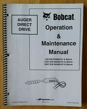 BOBCAT Trivella DIRECT DRIVE operatori manuale