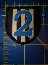 Adidas Soccer Shield Number Two #2 # 2 Patch Three 3 Stripes Blue White Dos