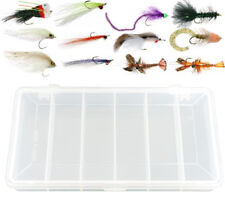 12 Piece Bass Fly Fishing Flies Collection + Free Fly Box