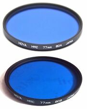Hoya 77mm Multi-Coated HMC 80A 80-B 80-A 80-B Conversion Glass Lens Filter 77 mm