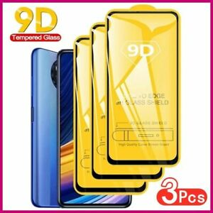 9D Protection Glass For Xiaomi Poco X3 Pro NFC F3 M3 F2 Screen Protector For Red
