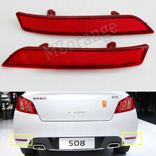 Pair for Peugeot 508 2011 2012 2013 2014 Rear Bumper Light Reflector Tail Lamp
