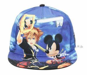 New Disney Kingdom Hearts Sublimation Snapback Hat Ball Cap Sora Mickey Mouse