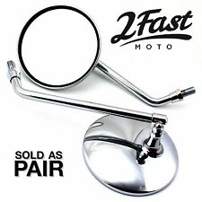 PAIR Honda 10mm CHROME MIRRORS CB650 CB700 CB750 CB900 CB1000 CB