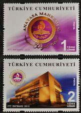 Türkei Turkey 2012, Mi.Nr. 3944-45, 50 Jahre Verfassungsgericht, Gerichtsgebäude