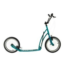 Foldable 16 Big Wheel Adult Kick Scooter Kickbike Mibo Mastr Turquoise Blue Used