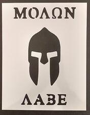 """Spartan Come Take Them Molon Labe 8.5"""" x 11"""" Custom Stencil FAST FREE SHIPPING"""