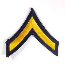 "Gold Black 1 Stripe Chevron Patches US Army Private E-2 Rank Uniform 3"" LOTS USA"