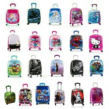 Kids Spinner Luggage Hard Side Carry-on Suitcase for Boys/Girls