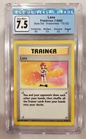 Lass shadowless base set card — 1999 Pokemon 75/102 CGC PSA 7.5 NM+