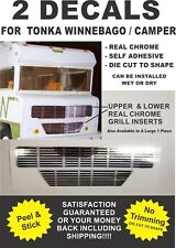 Tonka Winnebago Indian Conversion Van Grill Real Chrome Decals - Very Nice!!