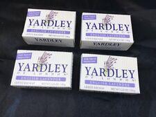 Yardley London English Lavender Naturally Moisturizing Bath Bar Soap Lot Of 4