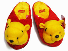 Winnie the Pooh Red Slippers NWT US 6-10, UK 4-8, EU 36-42 One size fits most #D