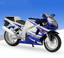 1:18 Maisto SUZUKI GSX R750 Motorcycle Bike Model Blue White New In Box