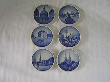"6 Royal Copenhagen Collectable 3"" Mini Plates"
