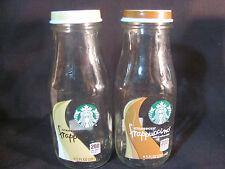 Set of 8 Starbucks Frappuccino Vase Shaped 13.7 oz Bottles w/ Tops for Crafts