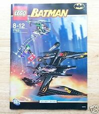 Lego 7782 INSTRUCTION BOOK: Batman Batwing & Joker * BOOK ONLY, NO LEGO