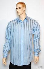 New  DOLCE & GABBANA Italy Long Sleeve Dress Shirt Top ~Blue Stripe *15.5-40