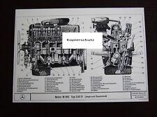Mercedes Motor M180 230S Längs- und Querschnitt 02/1967