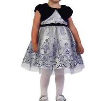 jona michelle toddler glitter dress w/ velvet shaw Size 4T NWT