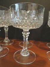 Cristal d Arqus France set of 6  Sherbert or Champagne