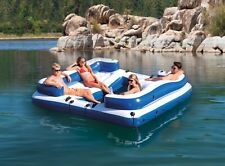 INTEX Oasis Island Inflatable Lake and River Seated Floating Water Lounge Raft