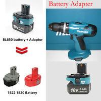 Charger Adapter Replace for Makita 18V BL18 Li-ion Battery to 18V NI-Cd Ni-MH