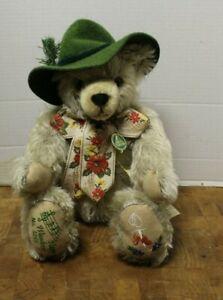 Vintage MAX HERMANN Mohair THE HAPPY WANDERER Musical Bear 100th Birthday Lt.Ed.
