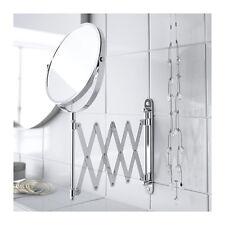 Ikea Frack Wall Mirror Stainless Steel Extendable Water Resistant Bathroom BNIP
