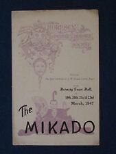 The Mikado - Hornsey Operatic Dramatic Society Programme 1947
