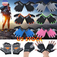 Outdoor Sports Half Finger 3D GEL Silicone Gloves Men Women Cycling Fingerless