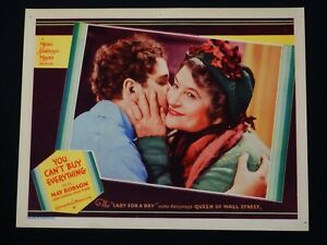 YOU CAN'T BUY EVERYTHING 1934 * MAY ROBSON CLOSEUP LOBBY CARD * NEAR MINT++
