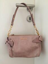 Orig. MIU MIU by Prada Handtasche Vitello Bow Bag Tasche Rose top Zustand NP400€
